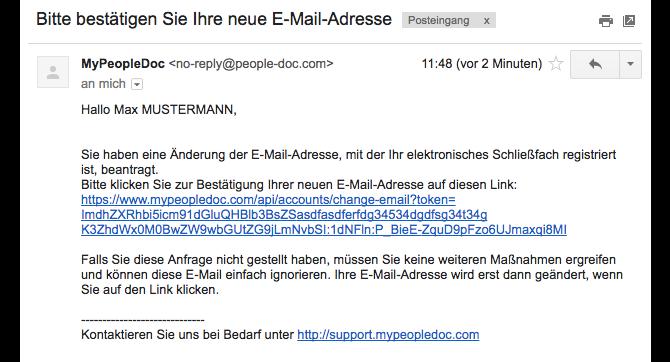 neue e mail adresse